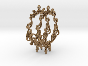 Baroque Hoops in Natural Brass
