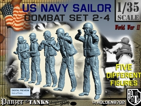 1-35 US Navy Sailors Combat SET 2-4 in Frosted Ultra Detail