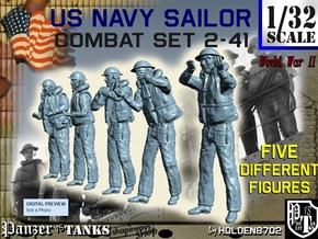 1-32 US Navy Sailors Combat SET 2-41 in Frosted Ultra Detail