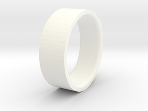 Beadlock ring 52 mm D90 D110 1:10 3/3 in White Strong & Flexible Polished