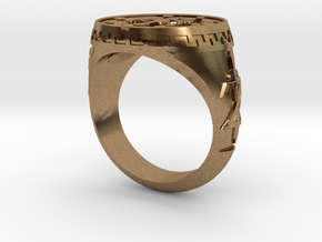 Breath Of The Wild Inspired Signet in Natural Brass: 6 / 51.5