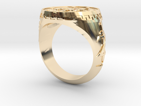 Breath Of The Wild Inspired Signet in 14K Yellow Gold: 6 / 51.5