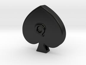 QoS Pendant  in Matte Black Porcelain