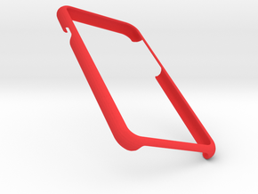 Iphone 7 Simple Frame in Red Strong & Flexible Polished