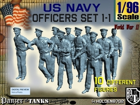 1-96 USN Officers Set1-1 in Frosted Ultra Detail