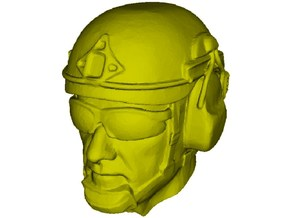 1/24 scale SOCOM operator A helmet & head x 1 in Smooth Fine Detail Plastic