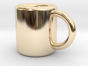 Coffee Mug Earring in 14K Yellow Gold