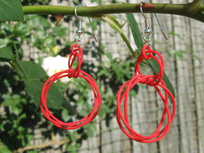 Knots Earrings in Red Processed Versatile Plastic