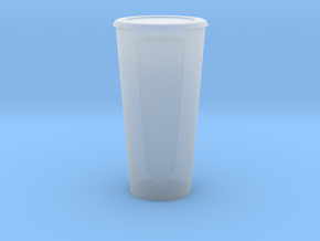 Dollhouse fast food / takeout restaurant paper cu in Smooth Fine Detail Plastic