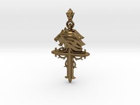 Leo-custom made in Natural Bronze (Interlocking Parts)