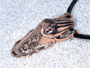 Cuttlefish Pendant in 14k Rose Gold Plated: Small