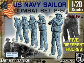 1-20 US Navy Sailors Combat SET 2-51 in White Strong & Flexible
