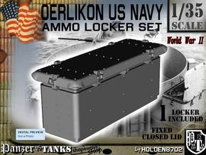 1/35 Oerlikon USN Ammo Locker Closed in White Strong & Flexible