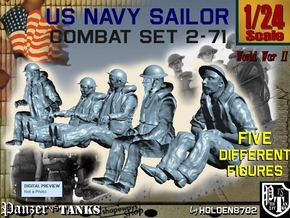 1-24 US Navy Sailors Combat SET 2-71 in White Strong & Flexible