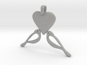LOVE Birds Symbol Customizable Initial Monogram  in Aluminum