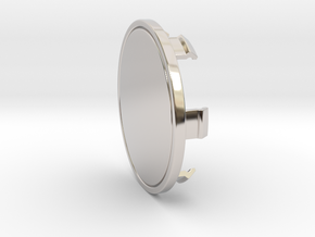 85mm Cap in Rhodium Plated Brass
