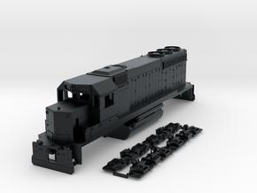 TT Scale GP40 Non-Dynamic Brake in Black Hi-Def Acrylate