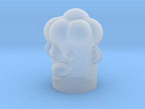 Cartoonish Human Head in Smooth Fine Detail Plastic
