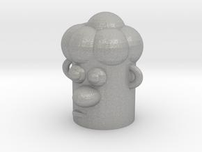 Cartoonish Human Head in Aluminum