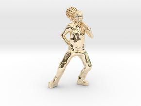 The Mask custom Heroclix in 14k Gold Plated Brass