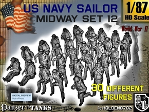 1-87 US Navy MIDWAY Set 12 in Smooth Fine Detail Plastic