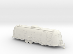 35mm scale - Classic American Trailer in White Natural Versatile Plastic