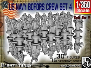 1/350 US Navy Bofors Crew Set 4 in Frosted Extreme Detail