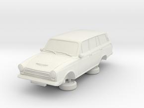 1-87 Ford Cortina Mk1 4 Estate in White Natural Versatile Plastic