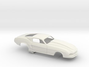 1/18 67 Pro Mod Mustang GT in White Natural Versatile Plastic