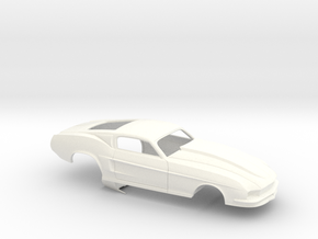 1/32 67 Pro Mod Mustang GT in White Processed Versatile Plastic