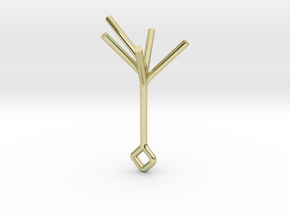 Little Golden Tree, Pendant in 18K Gold Plated
