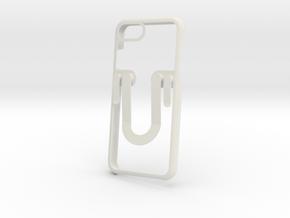 Iphone 7 Case - Hold Hang Card - Free Hand in Orange Processed Versatile Plastic