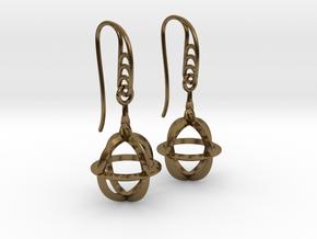 Sphere Cage (vane Hooks) in Polished Bronze (Interlocking Parts)