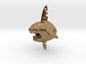 Sharpedo Key Charm in Natural Brass