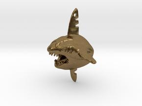 Sharpedo Key Charm in Natural Bronze