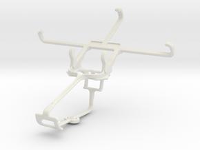 Controller mount for Xbox One & Panasonic Eluga S  in White Natural Versatile Plastic