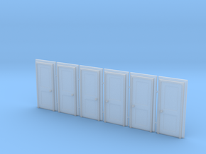 Door Type 4 - 760 X 2000 X 6 in Smooth Fine Detail Plastic: 1:148