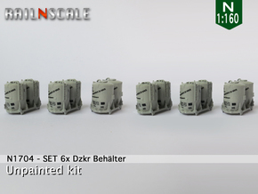 SET 6x Dzkr 501 Behälter (FLM/MTX) (N 1:160) in Frosted Ultra Detail