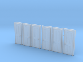 Door Type 5 - 660 X 2000 X 6 in Smooth Fine Detail Plastic: 1:148