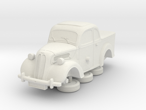 1-76 Ford Anglia E494a Pickup in White Natural Versatile Plastic