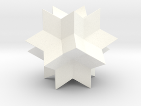 RHOMBIC HEXECONTAHEDRON in White Strong & Flexible Polished