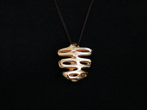 Agu Pendant (#2401) in Polished Gold Steel