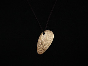 Shell Pendant (#2412) in Matte Gold Steel