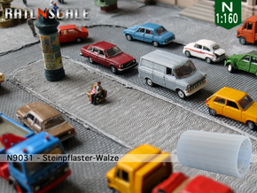 Steinpflaster-Walze (Bogenverband - N 1:160) in Frosted Ultra Detail