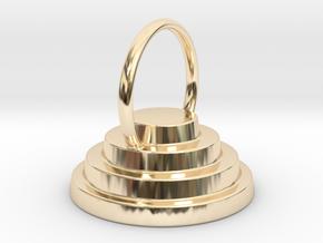 Devo Hat 15mm Ring Above in 14K Yellow Gold