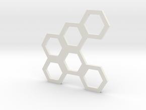 Hive Mind (Piece 18) in White Natural Versatile Plastic