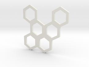 Hive Mind (Piece 19) in White Natural Versatile Plastic