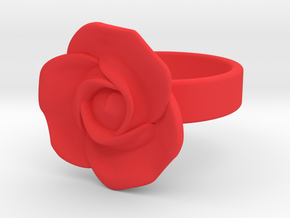 BlakOpal Rose Ring Size 8.5 in Red Processed Versatile Plastic