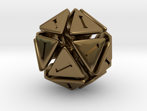The D20 of Fail in Polished Bronze
