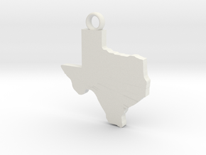 Texas Key Ring in White Natural Versatile Plastic